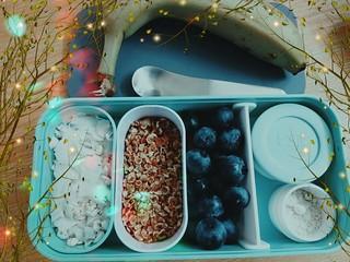 (50% raw) deconstructed winter vegan breakfast