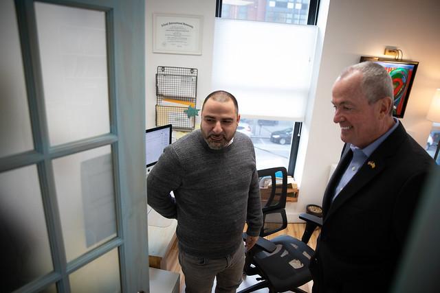 Governor Phil Murphy tours Indiegrove and announces New Vision for State's Tax Incentive Programs in Jersey City on January 16, 2019. Edwin J. Torres/ Governor's Office. .