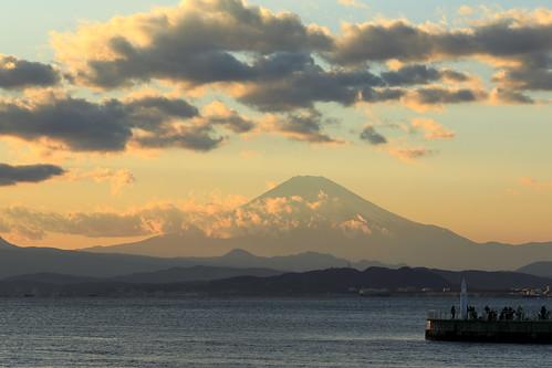 mtfuji evening clouds lighthouse