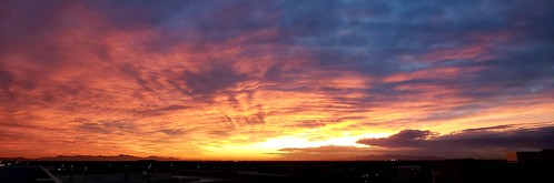 phoenix arizona urban desert sunset november storm clouds