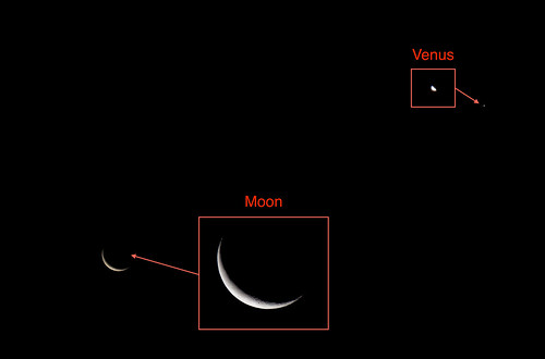 Moon and Venus 2018-12-04 | by imaginedhorizons