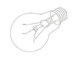 WS1901: Light Bulb - Line Art   by COLORED PENCIL magazine