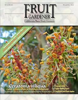 Carob on the Cover of the Fruit Gardener