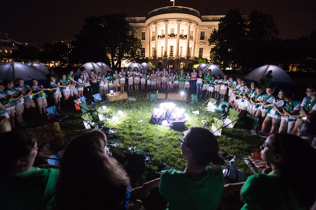 First Lady Hosts Campout at White House (201506300035HQ)