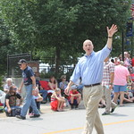 NE Gov. Pete Ricketts at the Ralston Independence Day Parade