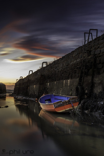 longexposure sunset sea seascape seaweed clouds canon reflections landscape boats coast seaside northumberland northsea serene northeast seatonsluice leefilters canon6d