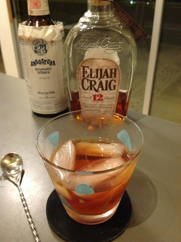 Old Fashioned with Elijah Craig 12 bourbon, simple (from TJ cane sugar), and Angostura bitters | by *FrogPrincesse*