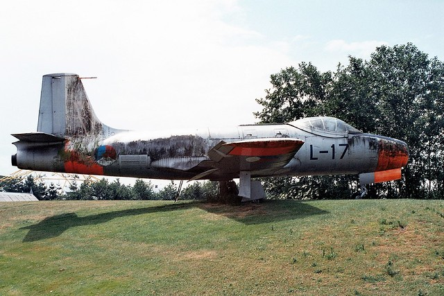 Fokker S-14 Machtrainer L-17 ex Royal-Netherlands-Air-Force/ KLu. Preserved, Autotron, Rosmalen. 16-06-2001.