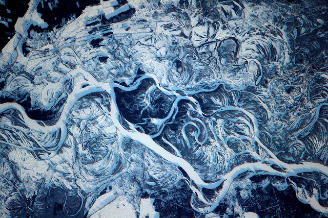 The Frozen Wild Dnieper River