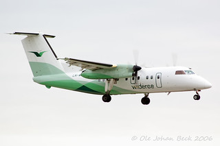 Widerøe Dash 8-100 LN-WIG at ENGM/OSL 13-10-2006 | by Ole Johan Beck