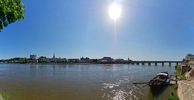 Sur les rives de la Loire à Saumur