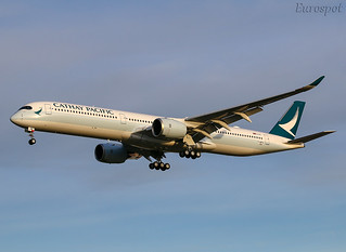 F-WZFN Airbus A350-1000 Cathay Pacific   by @Eurospot