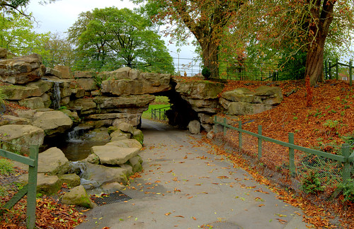 Rock feature at Moor Park | by Tony Worrall