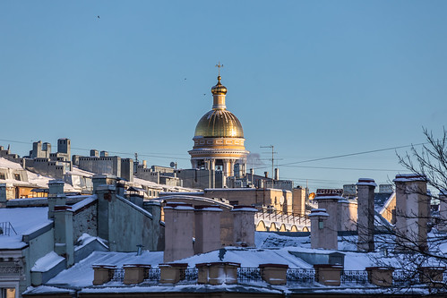 sunny cyan sunrise winter old city outdoor viewpoint snow morning colorful window roof design building exterior architecture outdoors town leningradoblast ru saintpetersburg russia