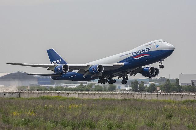 VQ-BWY, Boeing 747-8F Silkway Cargo@ Almaty ALA