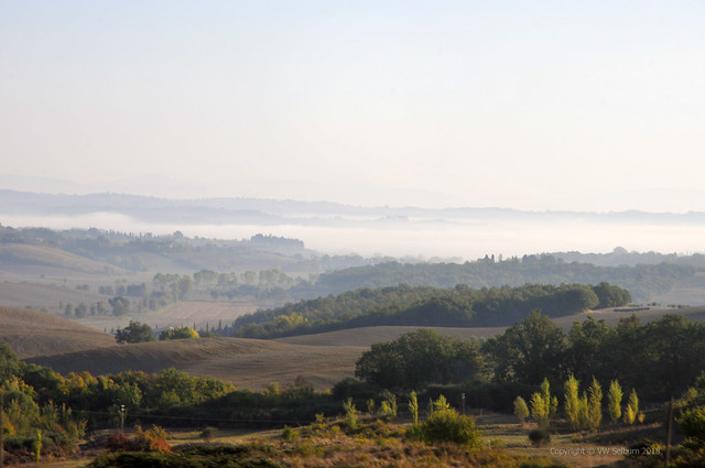 Tuscany in mist