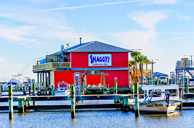 Shaggy's restaurant at Pass Christian Harbor in Pass Christian Mississippi
