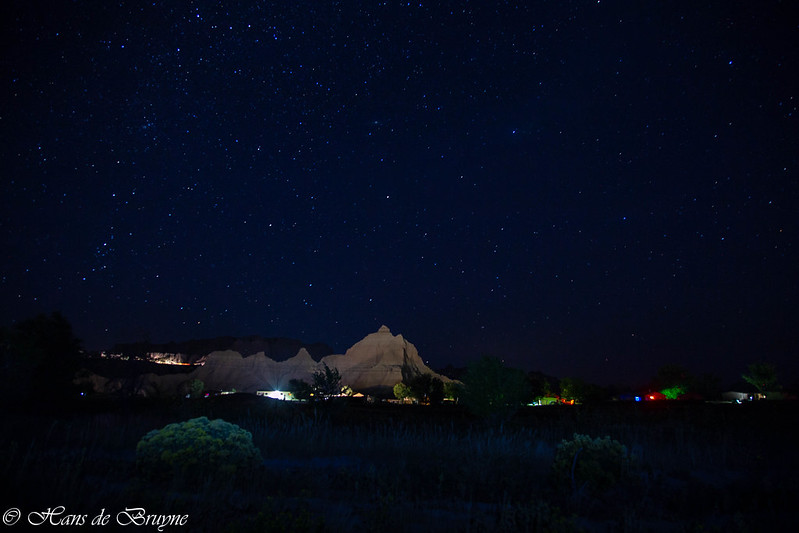 Badlands NP night view
