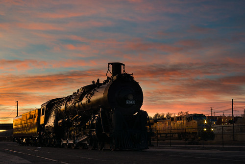explored explore atsf co colorado goldenhour locomotive morning nikond800 nikonmicronikkor55mmf35 pueblo railroad santafe sky sunrise thanksgivingmorning train up uprr unionpacific clouds