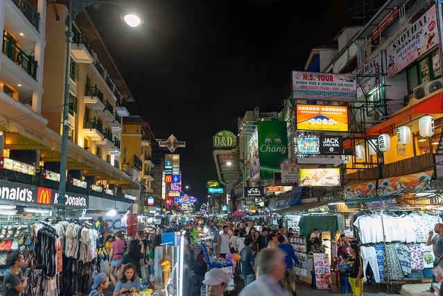 Khaosan street at night