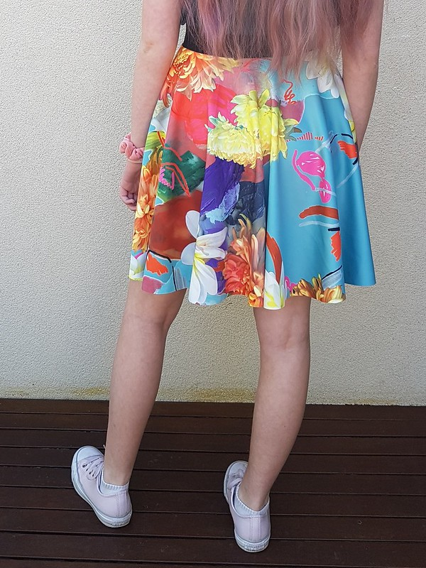 Circle skirt in Spotlight scuba