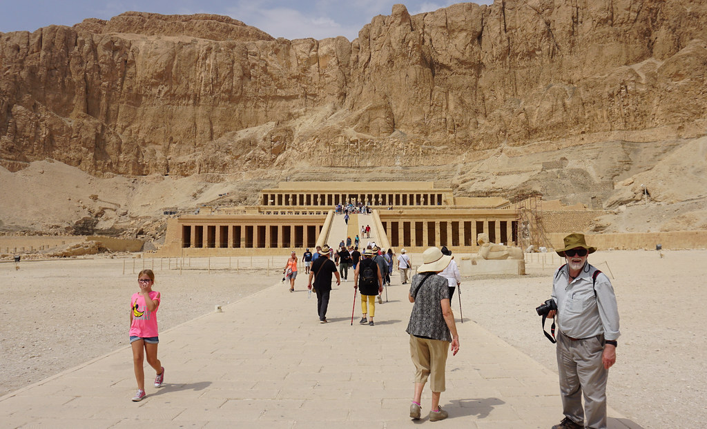 The Funerary Temple of Queen Hatshepsut, West Bank, Luxor, Egypt.