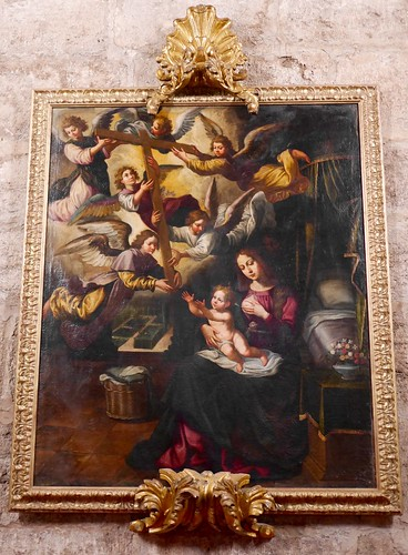 Virgen de la Leche. Olej-XVIII s.XVII