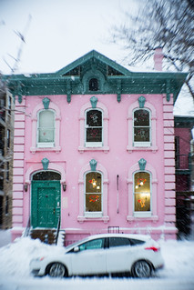 Pink House White Storm | by VBuckley.com