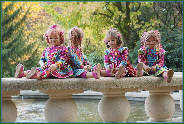 Kindergartenkinder ... heute bekommen wir nasse Füße ...