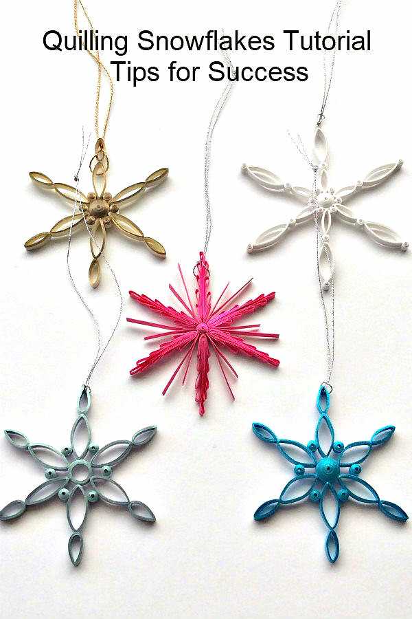 Make Modern Paper Snowflake Ornaments | Complete tutorial an