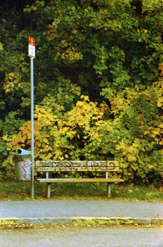 < the bench at the bus stop > | by Mister.Marken