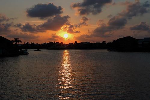 corpuschristitx texas usa water sea bay ocean coast coastline sunset evening sky eveningsky housing cloud clouds dusk city skyline boat fantasticnature tree dnysmphotography dnysmsmugmugcom
