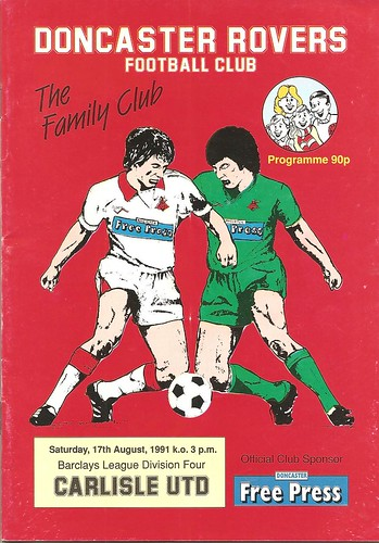 Doncaster Rovers V Carlisle United 17-8-1991 | by cumbriangroundhopper