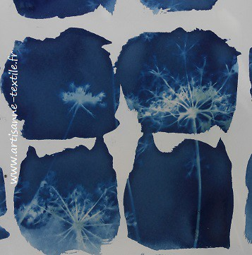 Detail Of Blue Squares In Cyanotype Fabric Dec 2018 Http Flickr