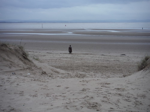 Crosby Beach: View through the dunes SWC Short Walk 35 - Crosby Beach: Antony Gormley's Another Place