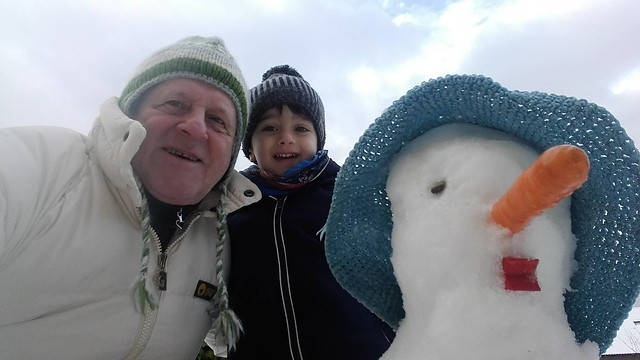 the big camera nephew and the Rider snowman