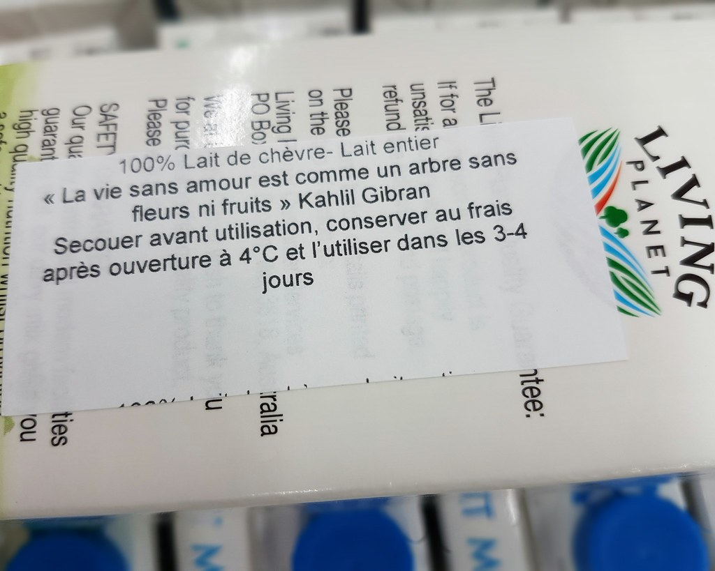 Citation Khalil Gibran Sur La Boite De Lait Fr Wikipedia O Flickr