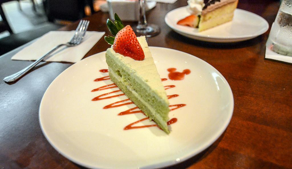 Green tea cake Tokyo Dining Epcot