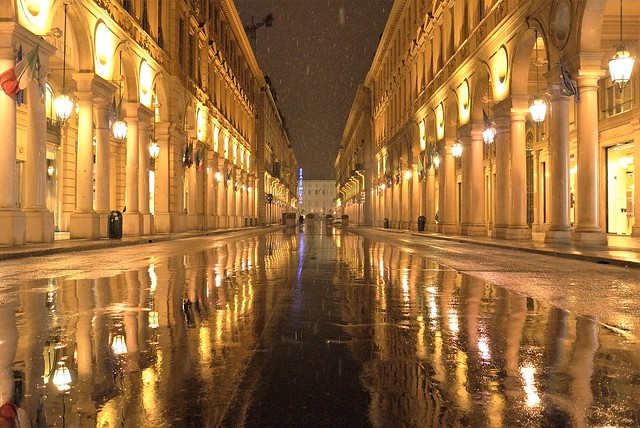 Turin by snow