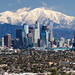Snow over Los Angeles by geekyrocketguy
