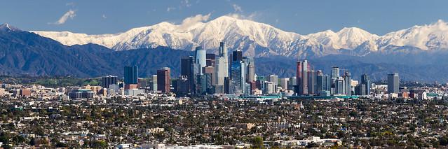 Snow over Los Angeles