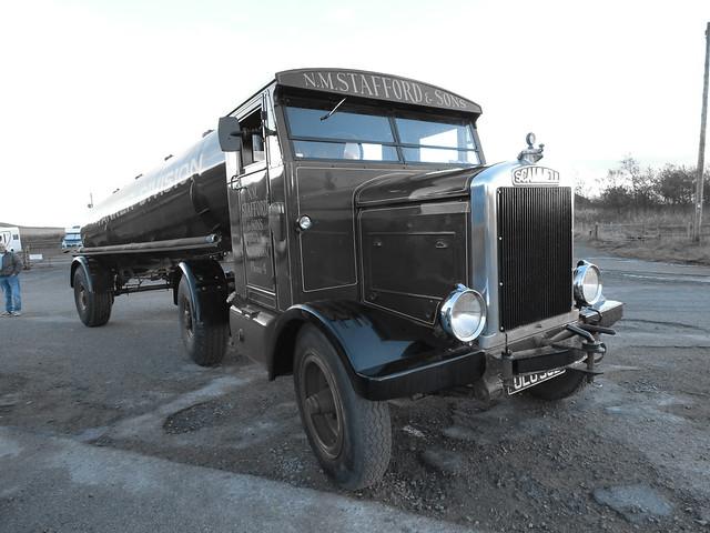 Scammell 1932 OLU 302 N.M.Stafford And Sons Halloween Road Run 2018 Carriage House Pub Marsden UK