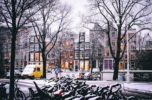 Amsterdam, Snow   by Amsterdamming