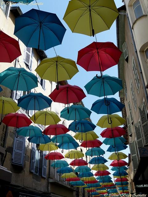 Dans le ciel d'Aurillac, l'image de marque de la Ville  - Cantal - Auvergne - France - Europe