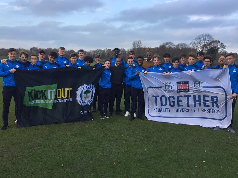 Wigan Athletic U18s & Kick It Out