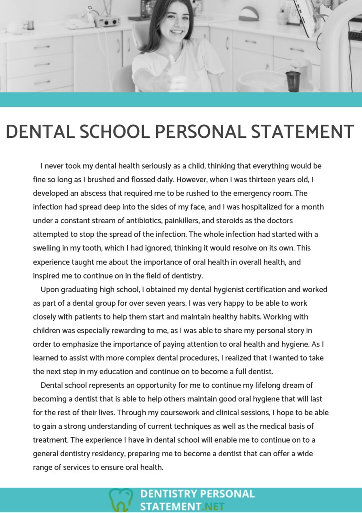 Dentistry personal statement