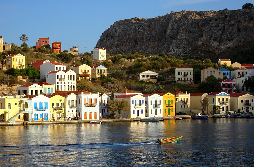 . Scenery with seaside houses and cliffs   Neoclassical houses    Flickr
