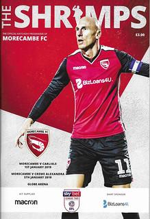 Morecambe V  Carlisle United 1-1-19 | by cumbriangroundhopper