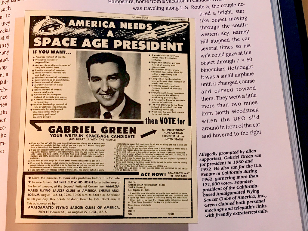 Space Age President   We're Here! with the spacemen  Gabriel