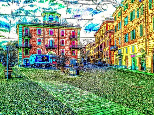 Una foto trasformata in un quadro arte Italia fotografia fantasia